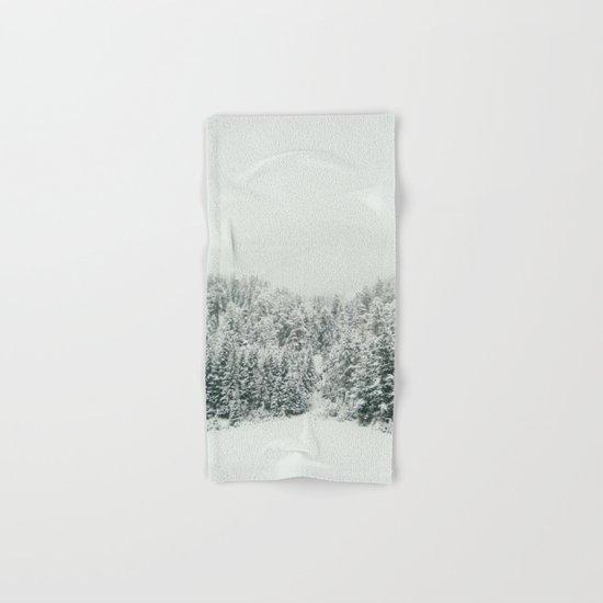 White Snowy Landcape Hand & Bath Towel
