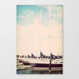Navy Boat Canvas Print