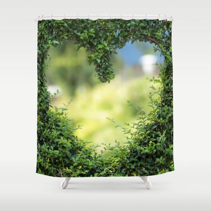 Heart in nature   coeur dans la nature Shower Curtain