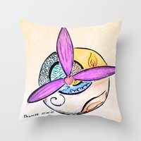 witchcraft Throw Pillows featuring Witchcraft by Thumpsy
