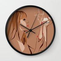 ursula Wall Clocks featuring Ursula by Elena Medero