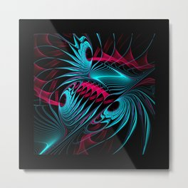 flames on black -7- Metal Print