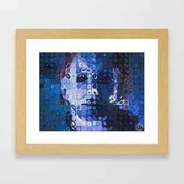 Chuck Close and Personal with Michael Meyers Framed Art Print