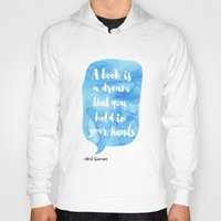 neil gaiman Hoodies featuring Neil Gaiman, quotes, Sky color by Good vibes and coffee