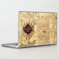 marauders Laptop & iPad Skins featuring MARAUDERS MAP by Graphic Craft