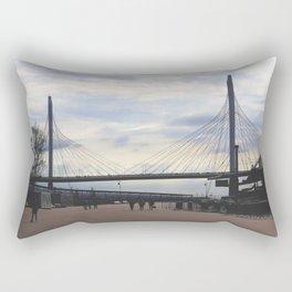 Zsd road bridge above Neva river Rectangular Pillow