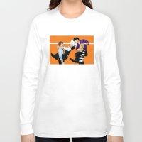 johnlock Long Sleeve T-shirts featuring Sherlock vs. Holmes by Krusca