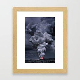 Kilauea Volcano at Kalapana 3e Framed Art Print