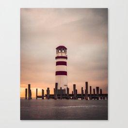 The Lighthouse on Ice Canvas Print