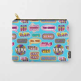 """Pattern #1 """"YOLO"""", """"Slay!"""", """"Hell Yeah"""", """"Yas Kween"""", etc. Carry-All Pouch"""