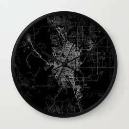 Colorado Springs map Colorado Wall Clock