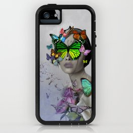 girl with butterflies iPhone Case