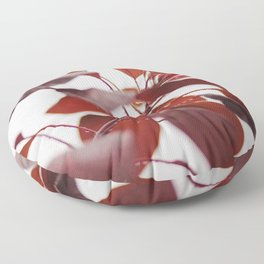 Red leaves in a London Fog by Diana Eastman Floor Pillow
