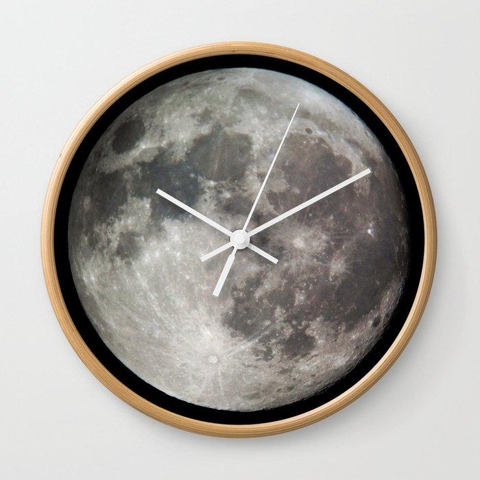 Moon Wall Clock By Mattbokan Society6