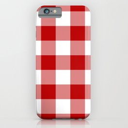 Red and White Buffalo Check iPhone Case