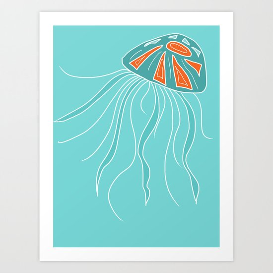 Jelly Fish A-Go-Go Two Art Print
