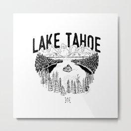 Lake Tahoe - We Who Wander Threads Metal Print