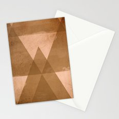 Distressed Triangles Stationery Cards
