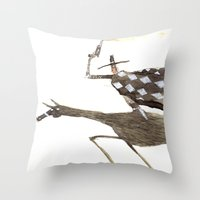 cowboy Throw Pillows featuring Cowboy by Peerro