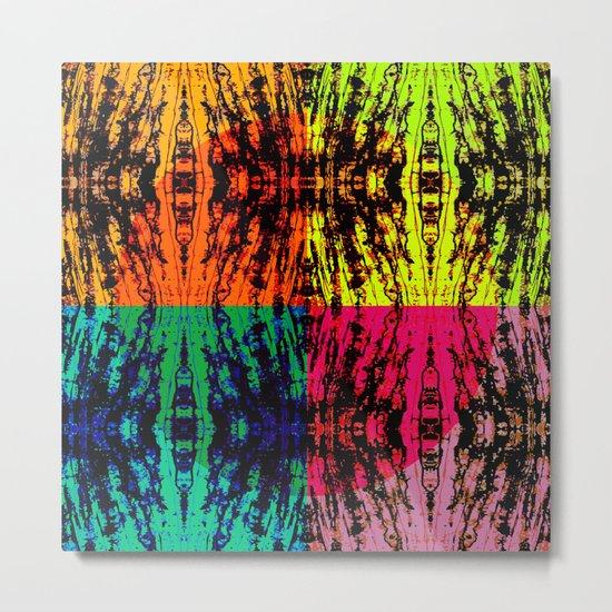 4 different squares Metal Print