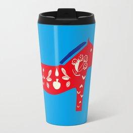 Dala Horse blue Travel Mug