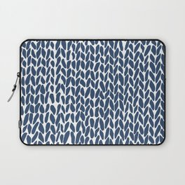 Hand Knit Zoom Navy Laptop Sleeve