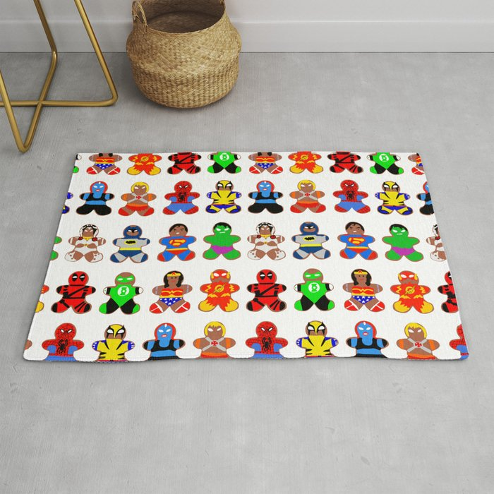 Superhero Gingerbread Man Rug By