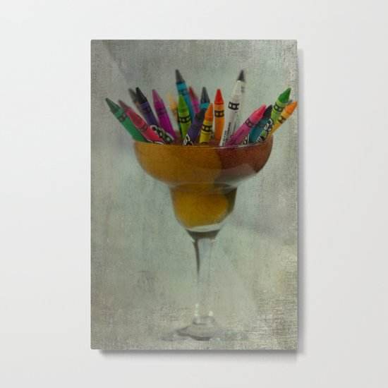 CRAYON LOVE : Addiction Metal Print