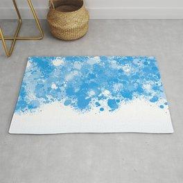 paint splatter on gradient pattern bbwb Rug