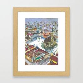 Unirii square Framed Art Print