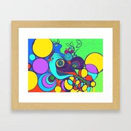 Colourful Bird Framed Art Print