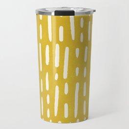 minimalist series: scandi lines, golden yellow Travel Mug