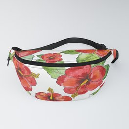Hibiscus Floral Print Fanny Pack