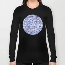Marble Mosaic in Amethyst and Lapis Lazuli Long Sleeve T-shirt