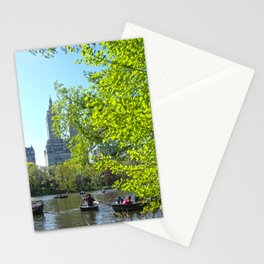 Rowing at Central Park, NYC Stationery Cards