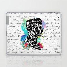 Mr.Darcy - I Love You Laptop & iPad Skin