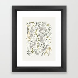 Grey Cheetahs Framed Art Print