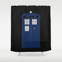 Doctor Who's Tardis Shower Curtain