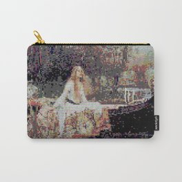 Lady of Shallot Glitch II Carry-All Pouch