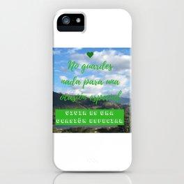Vivir es una ocasión especial | Special ocassion iPhone Case