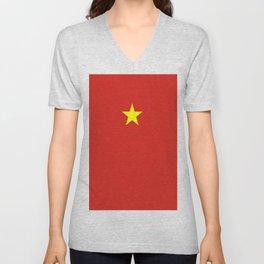 Flag of vietnam Unisex V-Neck