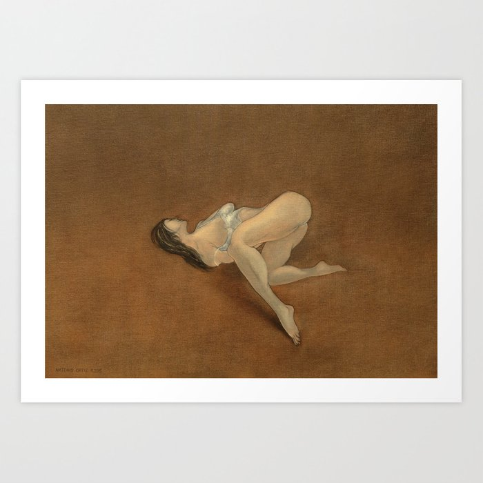 Lissome (oil on canvas) Art Print