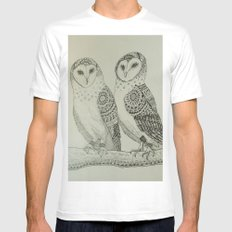 Owls Mens Fitted Tee MEDIUM White