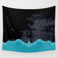 rocket Wall Tapestries featuring Rocket by Talip Memis