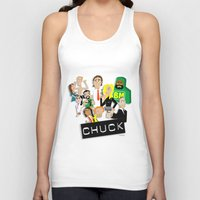 chuck Tank Tops featuring CHUCK by Seedoiben