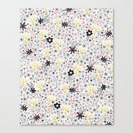teeny tiny floral pattern Canvas Print