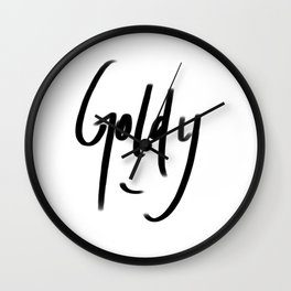 goldy typography Wall Clock