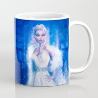 frozen elsa Mugs featuring Elsa by Joe Roberts