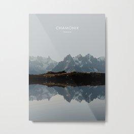 Chamonix, France Travel Artwork Metal Print