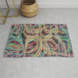 Rings Multi Colored Abstract Rug